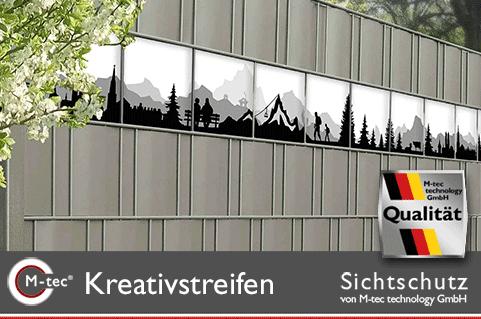 PVC Sichtschutzstreifen - Motiv Alpen