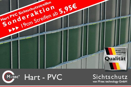Hart-PVC Zaunstreifen