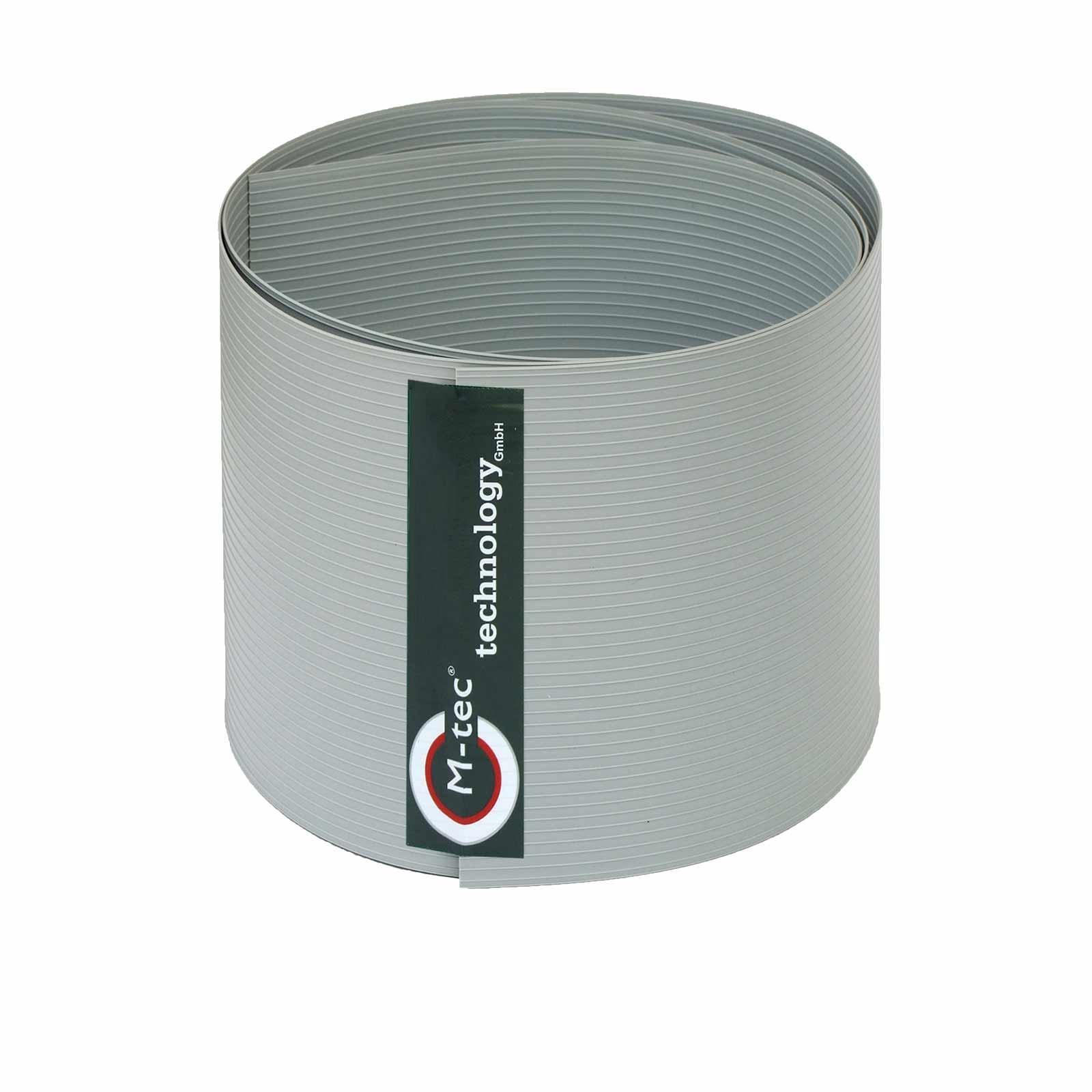 Sichtschutzstreifen Hart - PVC lichtgrau - H = 23,5cm