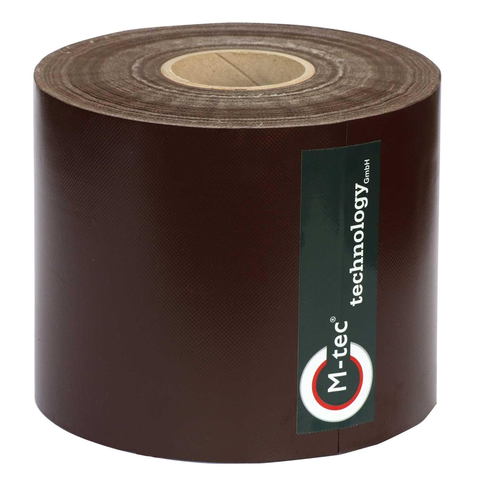 M-tec Profi-line ® braun PVC Sichtschutzrolle L=65m, H=19cm