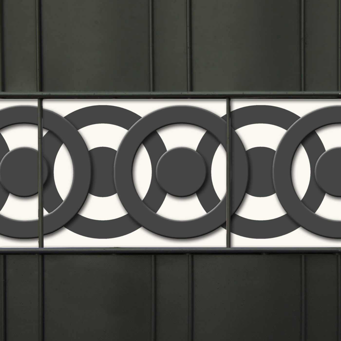 PVC Designdruck Zaunblende - Circle Point