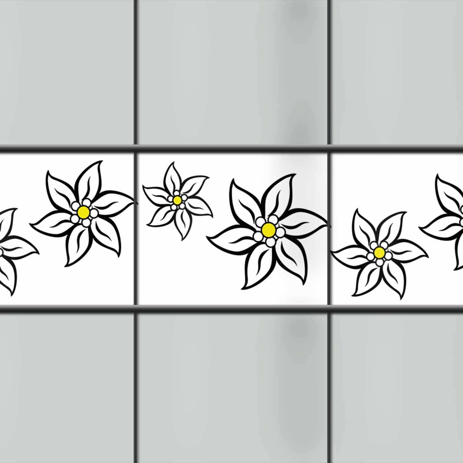 PVC Sichtschutzstreifen Edelweißblüte
