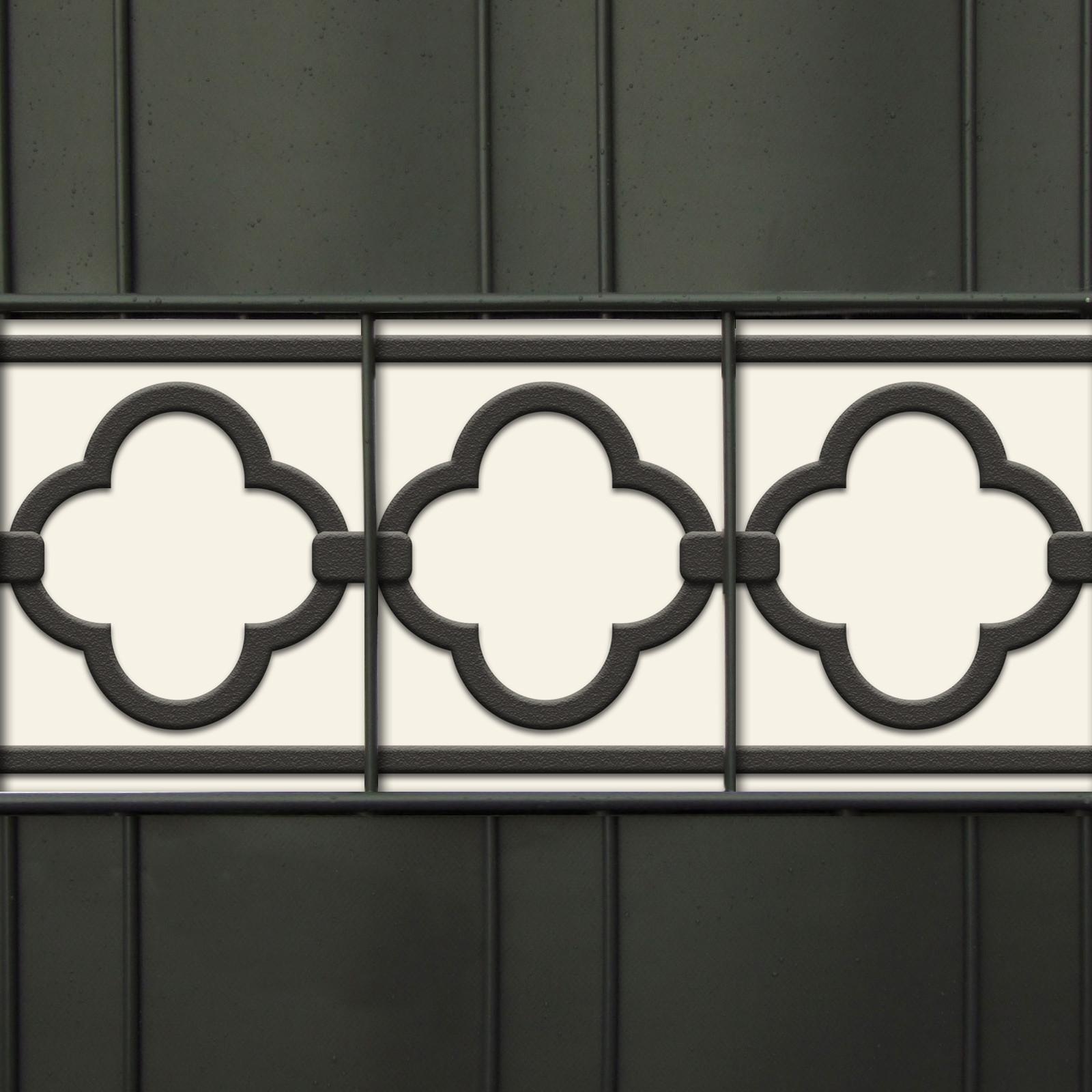19cm hoher Sichtschutzstreifen mit Quatrefoil Zier-Muster