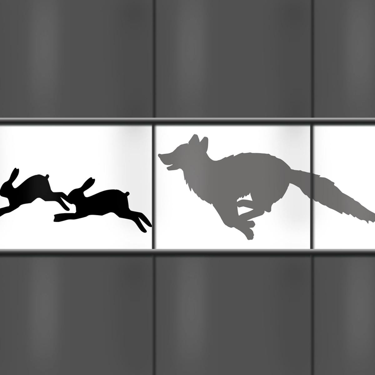 PVC-Sichtschutzmotiv Fuchs und Hase