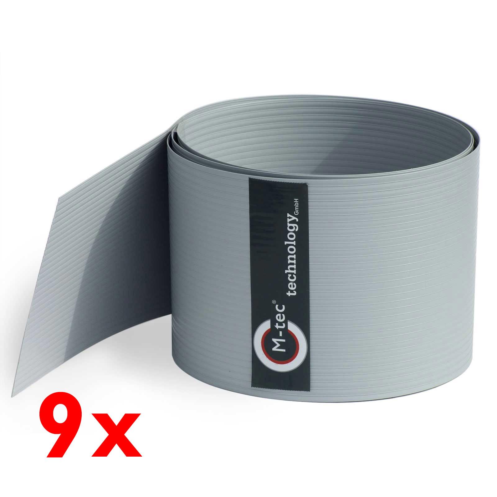 Sichtschutzstreifen Hart - PVC anthrazit - dunkelgrau