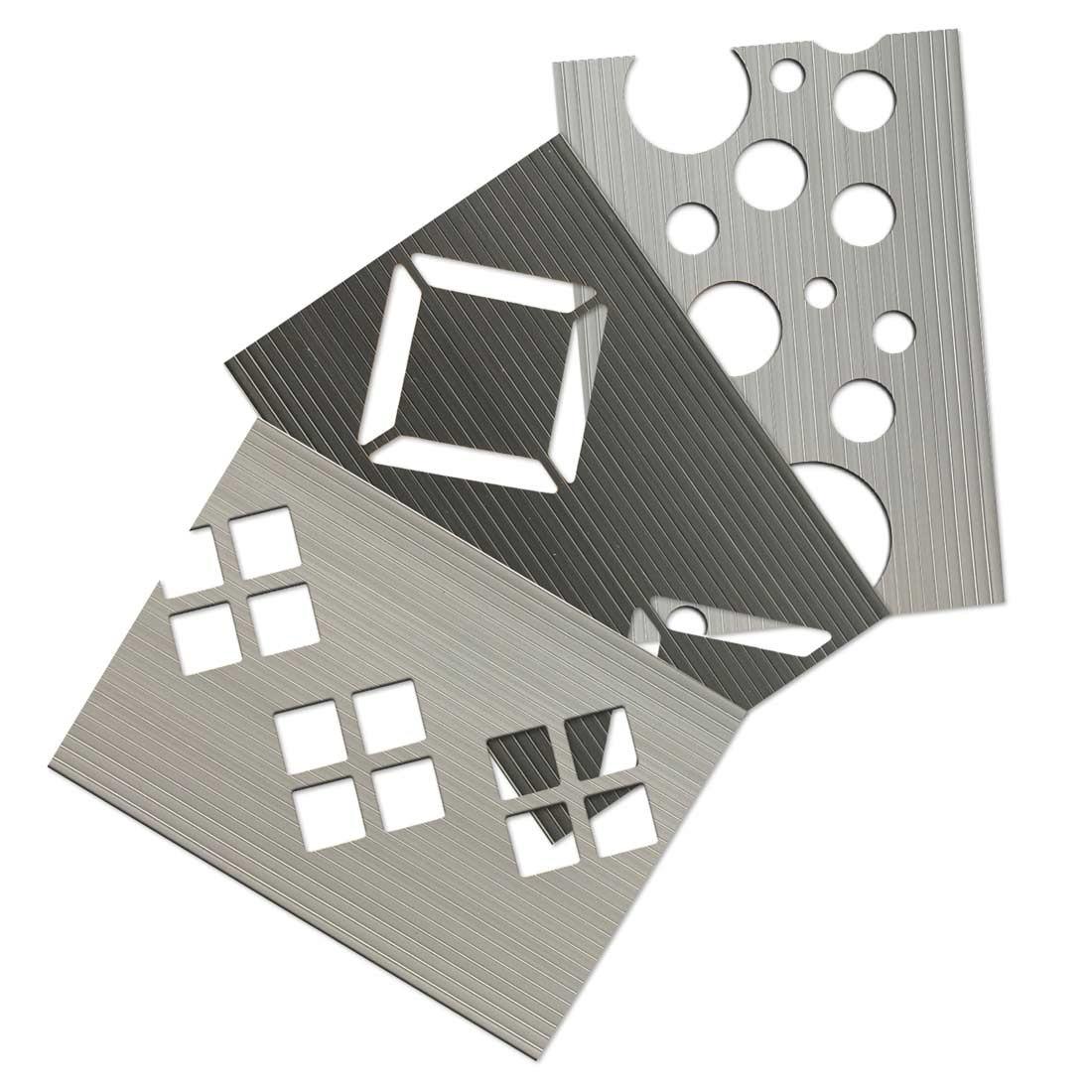 Hart-PVC Dekor Musterzuschnitte Zaunstreifen