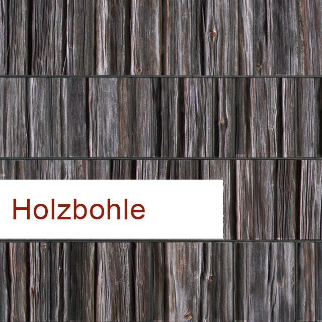 Sichtschutzstreifen Motiv Holzbohle