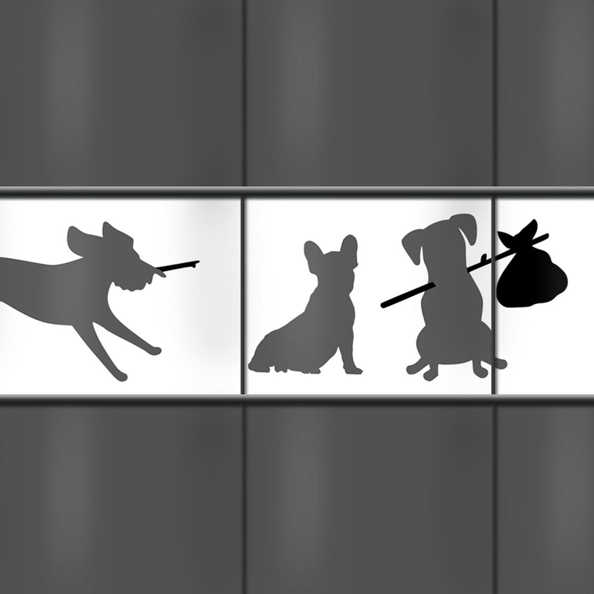 Sichtschutzstreifen Hundemotiv