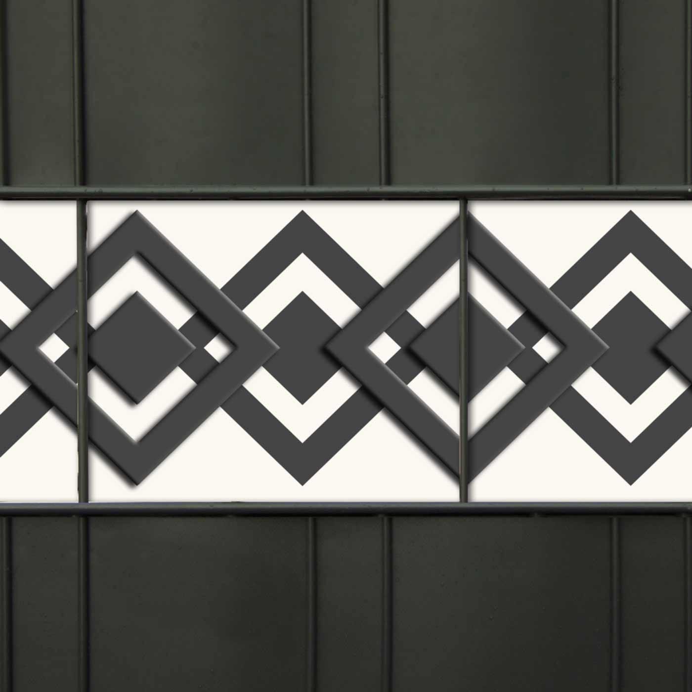 PVC Dekorblenden Motiv - M-tec Karo-tape