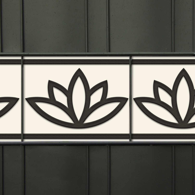 Dekor Sichtschutzstreifen mit Lotusblumen-Muster