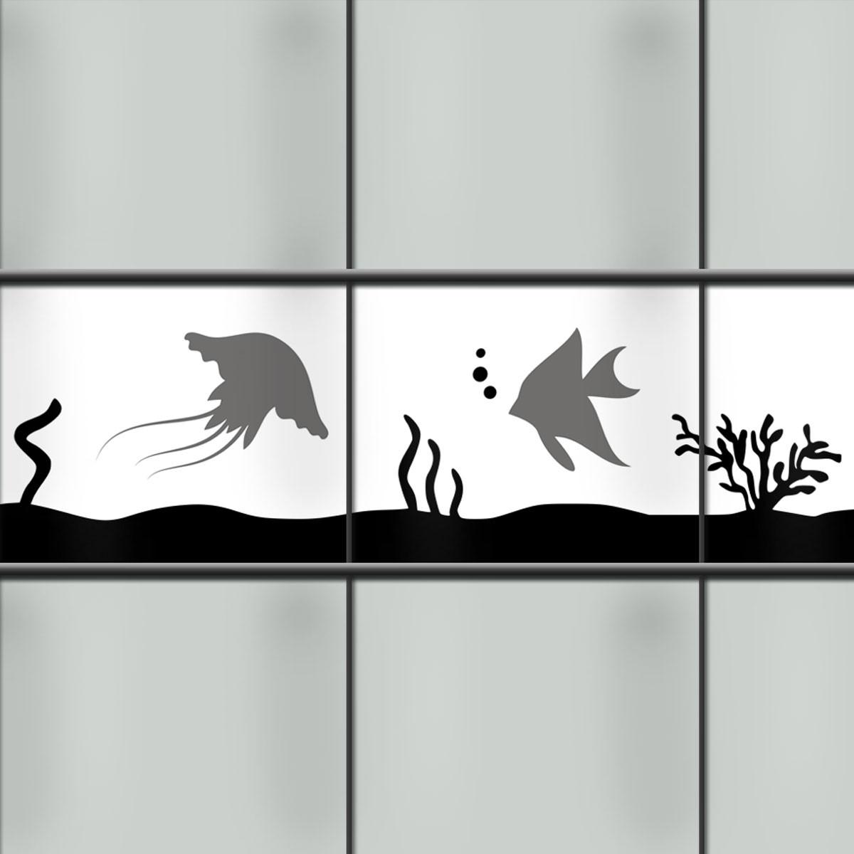 Sichtschutzstreifen mit Tiermotiv Meerestiere