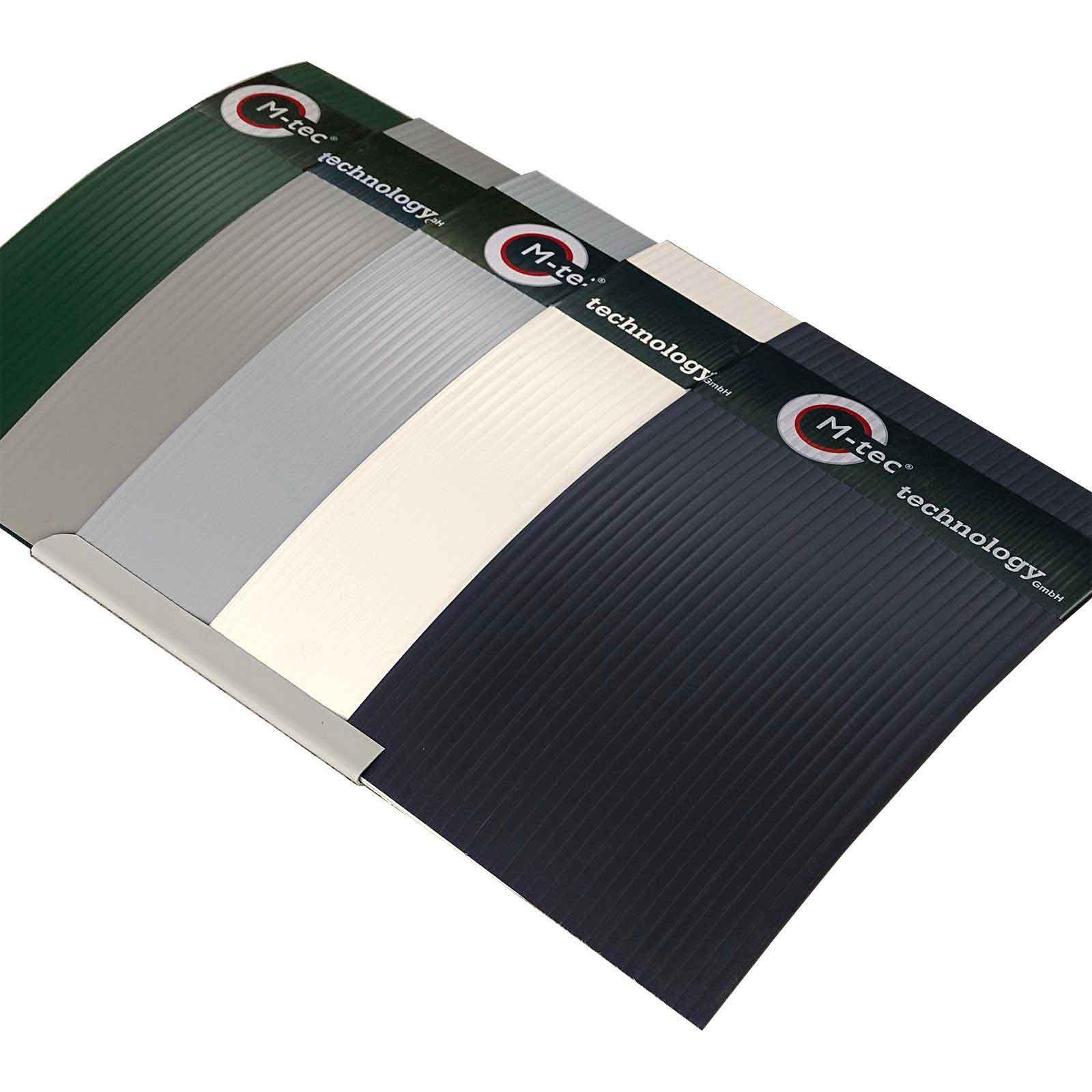 Musterfächer Hart PVC in 5 Farben