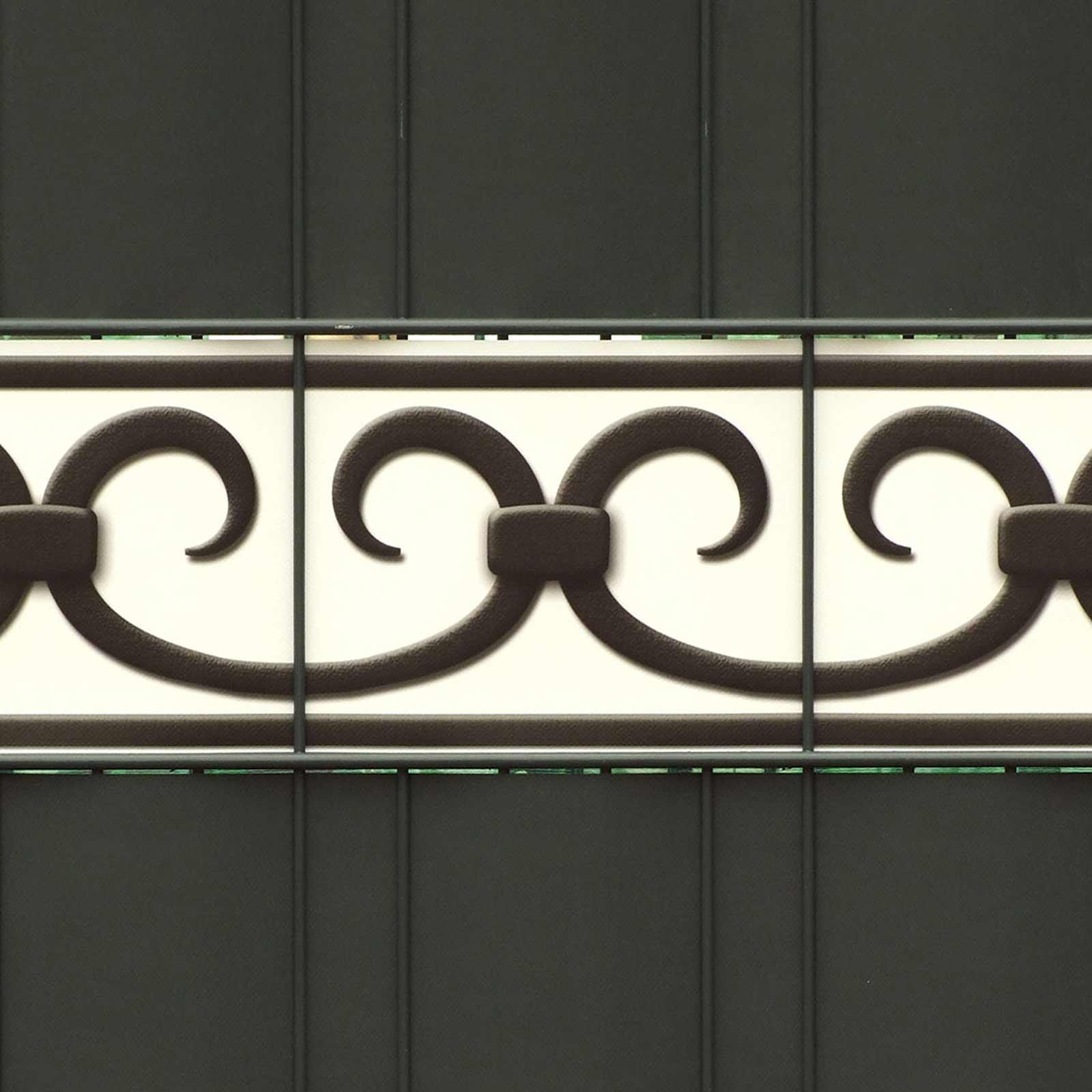PVC Design Druck  Zaunblenden Motiv Prag | Streifen