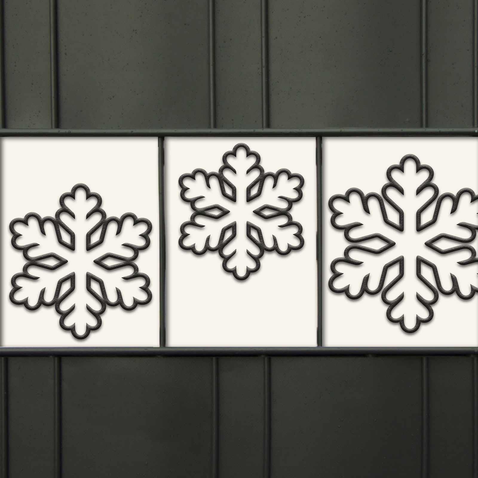 Sichtschutzmotiv - Schneeflocken