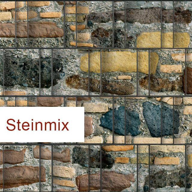 Sichtschutzstreifen Motiv Steinmix