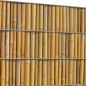 Zaun mit PVC Sichtschutz in der Art eines Bambuszauns