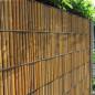 Gitterstabzaun als Sichtschutz mit Motiv Bambus