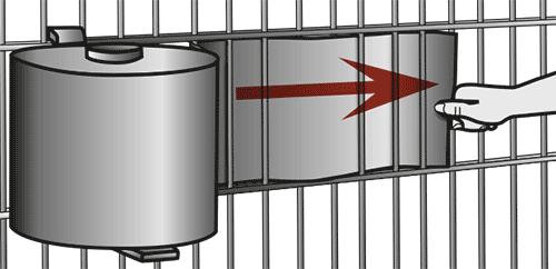 Montageanleitung Zaunstreifen mit Abrollhilfe