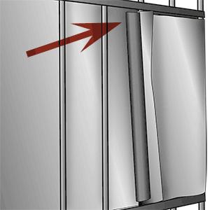 Befestigung PVC Zaunblendenstreifen mit Klemmschienen